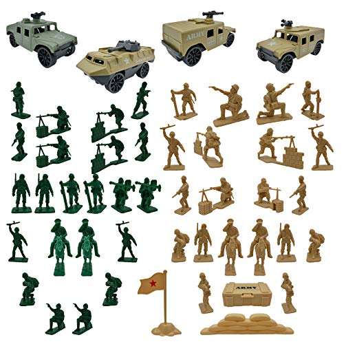 Army Men Military Weapons Accessories Toy Soldiers Action Figures for Toddlers Boys Girls Kids Children