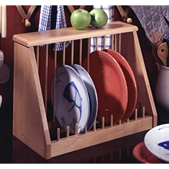 Plate Rack Natural MADE IN USA & Amazon.com: Plate Rack Natural MADE IN USA: Dish Racks: Kitchen ...