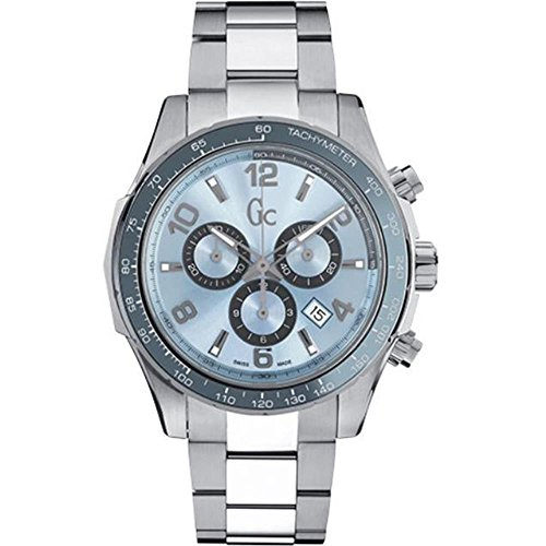 Guess Collection Men's Gc TechnoSport 44mm Steel Bracelet & Case Quartz Blue Dial Analog Watch X51006G7S