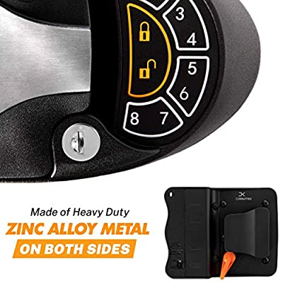 Carmtek - RV Keyless Entry Door Lock Latch Handle | RV Door Lock with Deadbolt, Keypad and Fob | Keyless RV Door Handle for Travel Trailer Camper, Made of Zinc Alloy (Back/Front): Automotive