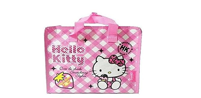 683d5c425e Image Unavailable. Image not available for. Color  Sanrio Hello Kitty  Reusable Tote ...