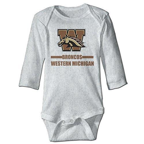 Babies Western Michigan Broncos 100% Cotton Bodysuit Ash 6 M