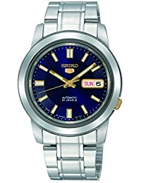 Seiko Men's SNKK11 Automatic-Self-Wind Blue Dial Watch