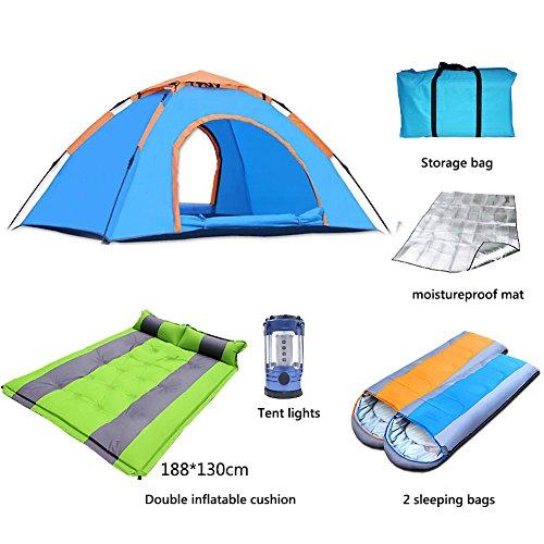 言及する警戒六月アウトドア テント,テント 2人用 自動高速オープン 超軽量 野生 ポータブル テントにキャンプ 通風孔の大きな 単層 ドームテント