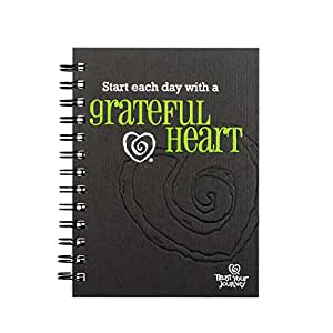 Black With a Grateful Heart 7 x 6 inch Wire Bound 100 Page Lined Journal