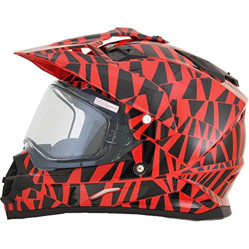 AFX FX-39DS Dazzle Mens Snow Helmets - Red - Medium