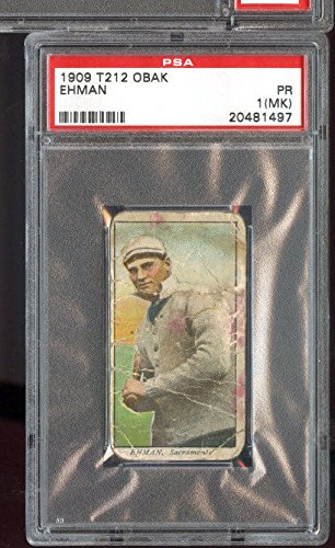 1909 T212 Obak Cigarettes Tobacco Ehman PSA 1 (MK) Graded Baseball Card ()