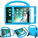 LEDNICEKER Kids Case for New iPad 9.7 2018/2017 - Built-in Screen Protector Shockproof Handle Friendly Foldable Stand Kids Case for New iPad 9.7 2017/2018 (ipad 5&6) - Blue