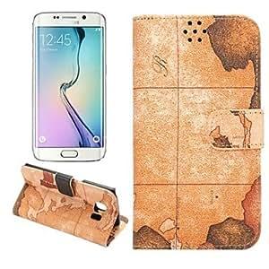 GDW Teléfono Móvil Samsung - Carcasas de Cuerpo Completo/Fundas con Soporte - Gráfico - para Samsung Samsung Galaxy S6 edge ( Multi-color , , Gray