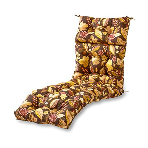 Greendale Home Fashions 72-Inch Patio Chaise Lounger Cushion, Timberland Floral