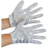 Silberne Pailletten Handschuhe Kinder