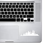 StickAny Palm Series New York Skyline 4 Sticker for MacBook Pro, Chromebook, and Laptops (White)