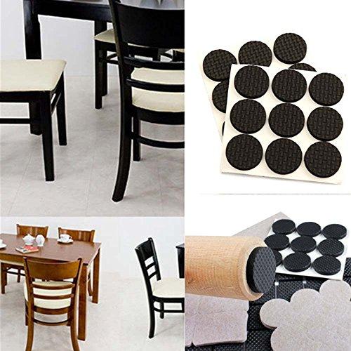 18Pcs Felt Self Adhesive Rug Felt Pads Protectors Anti Slip Furniture Feet Pads