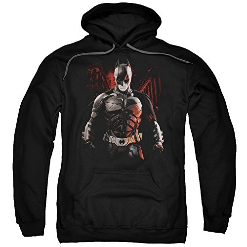 Trevco Men's Dark Knight Rises Batman Battleground Adult Hoodie at Gotham City Store
