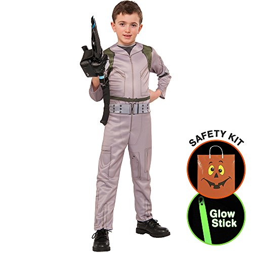 [Ghostbusters Boys Costume Halloween Trick or Treat Safety Kit Small/Med] (Ghostbuster Costume Backpack)