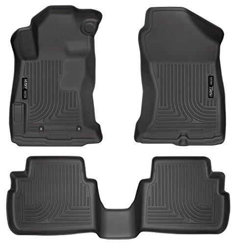 Husky Liners 99661 Black Weatherbeater Series Floor Mat, 3 Pack