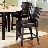 Marion Dark Espresso Counter-Height Chair (Set of 2)