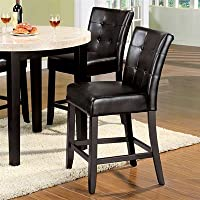 247SHOPATHOME X 2 Idf-3866PC X 2 Dining-Chairs, Espresso