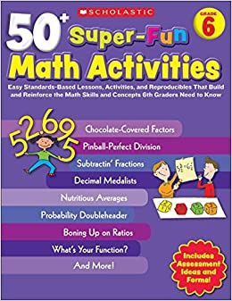 Amazoncom 50 Super Fun Math Activities Grade 6 Easy Standards