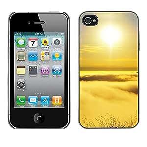 LASTONE PHONE CASE / Carcasa Funda Prima Delgada SLIM Casa Carcasa Funda Case Bandera Cover Armor Shell para Apple Iphone 4 / 4S / Peak sunset