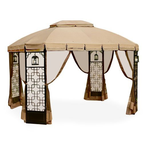 Garden Winds Replacement Canopy for Trellis Gazebo, RipLock 350