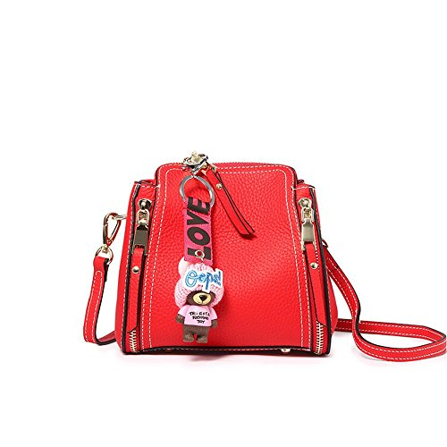 22 Bag 12cm Messenger Red Leather Bucket Bag Shoulder Portable 19 Joker Mini XDDB vWSpxHwqgg
