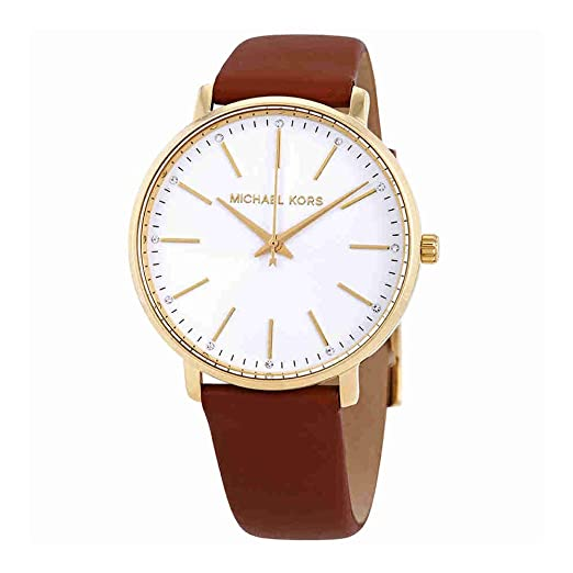 910934cee42e Michael Kors Women s Analogue Quartz Watch with Leather Strap MK2740   Amazon.co.uk  Watches