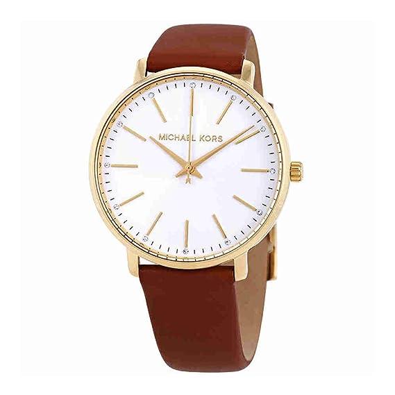 Michael Kors Reloj Analogico para Mujer de Cuarzo con Correa en Cuero MK2740: Amazon.es: Relojes