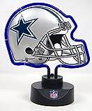 "Dallas Cowboys Neon Helmet Shape Lamp 12"" x 10""."