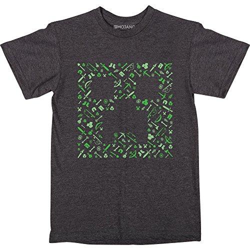 JINX Minecraft Creepy Creeper Boys Tee Shirt