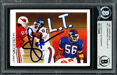 - Lawrence Taylor Autographed 1991 Upper Deck Card #87 New York Giants Beckett BAS #11318409
