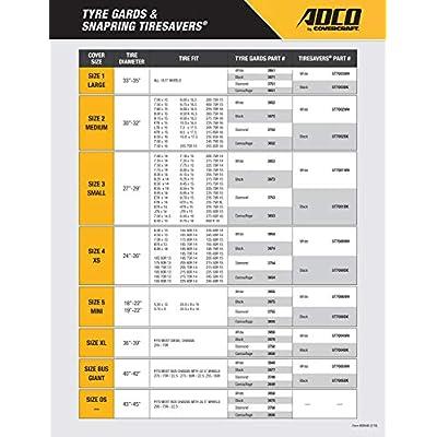 ADCO 3923 White Double Axle Tyre Gard Wheel Cover: Automotive