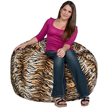 Cozy Sack 3 Feet Bean Bag Chair Medium Tiger Print