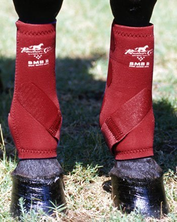 Professionals Choice Equine Smbii Leg Boot, Pair (Large, Black)
