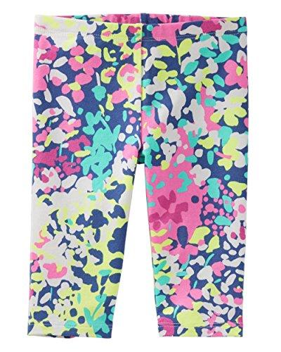 Osh Kosh Girls' Toddler Pedal Pusher Legging, Multi Floral, 2T