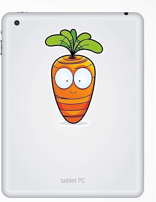 2 x Happy Carrot Vinyl Stickers Travel Luggage #10686