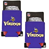 Official National Football League Fan Shop Authentic 2-Pack NFL Insulated 12 Oz Can Cooler (Minnesota Vikings – Small Logo)