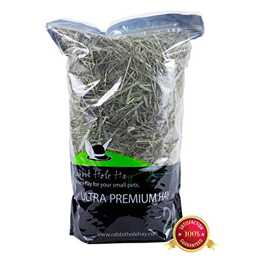 Rabbit Hole Hay Ultra Premium, Hand Packed Third Cut Timothy Hay for Your Small Pet Rabbit, Chinchilla, or Guinea Pig (1.5 Lbs.)
