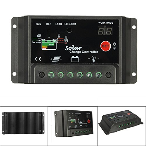 Mohoo 30A Charge Controller Solar Charge Regulator Intelligent USB Port Display 12V-24V by MOHOO