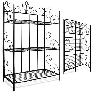 Superior Wall Shelf Metal Shelf Standing Shelf Garden Shelf Iron Shelf Folding Shelf  XL