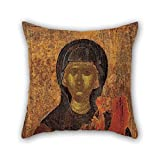 The Oil Painting Macedonian Workshop - St Paraskevi Throw Pillow Case Of 20 X 20 Inches / 50 By 50 Cm Decoration Gift For Birthday Bench Teens Home Theater Floor Couch (twice Sides)