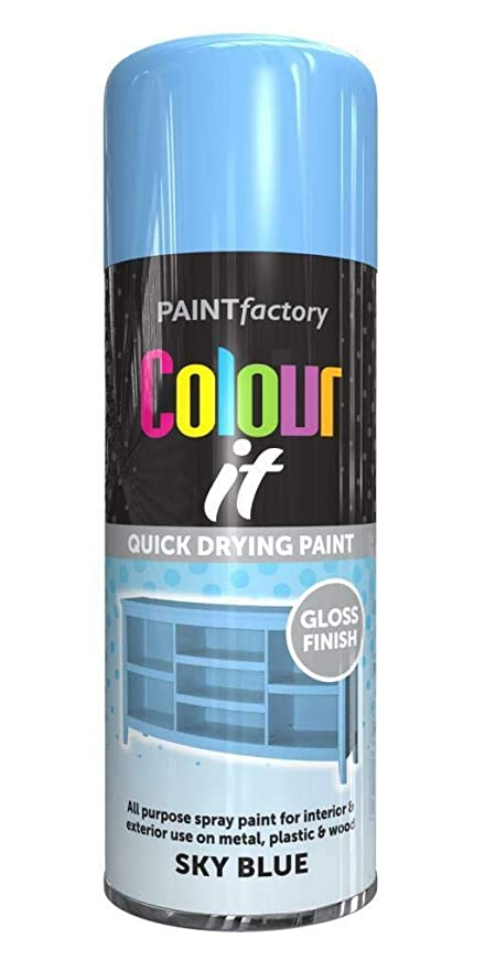 400ml Colour It Sky Blue Gloss All Purpose Diy Spray Paint