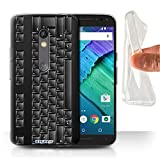 STUFF4 Gel TPU Phone Case / Cover for Motorola Moto X Play 2015 / PC Keyboard/Black Design / Keys/Buttons Collection