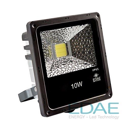 Foco LED Exteriores 10W, Proyector LED 10W, Blanco Frío 5500K - Fabricante Español,