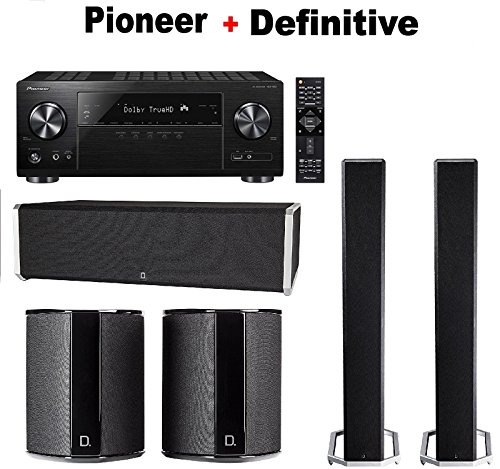 PIONEER-VSX832-51-Channel-4K-Ultra-HD-Network-AV-Home-Theater-Receiver-Black-Pair-of-Definitive-Technology-BP9020-Pair-of-Definitive-Technology-SR9040-Definitive-Technology-CS9040-Bundle