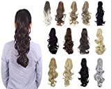 hair ties forever 21 - Long Thick Claw Clip Ponytail Synthetic Big Wave Straight Clip in Pony Tail Hair Extensions for Women Lady Girls