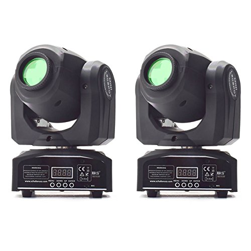 Eyourlife 2Pcs 10W LED Patterns DJ Stage Moving Head Light DMX512 Auto Stop For Club Party Show Lighting by Eyourlife