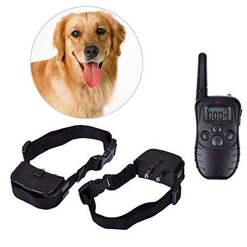 Practical LCD 100LV Electric Shock Vibration Remote Pet Dog Training Collar New