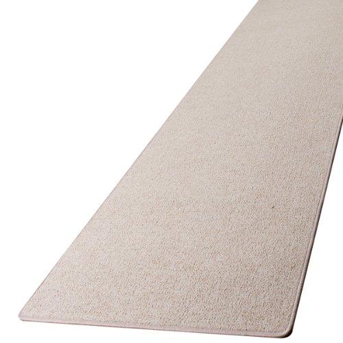 Schlingen Teppich Läufer Turbo Beige nach Maß - versandkostenfrei schadstoffgeprüft pflegeleicht antistatisch schmutzresistent robust strapazierfähig Flur Diele Eingang Wohnzimmer Küche, Größe Auswählen:80 x 300 cm