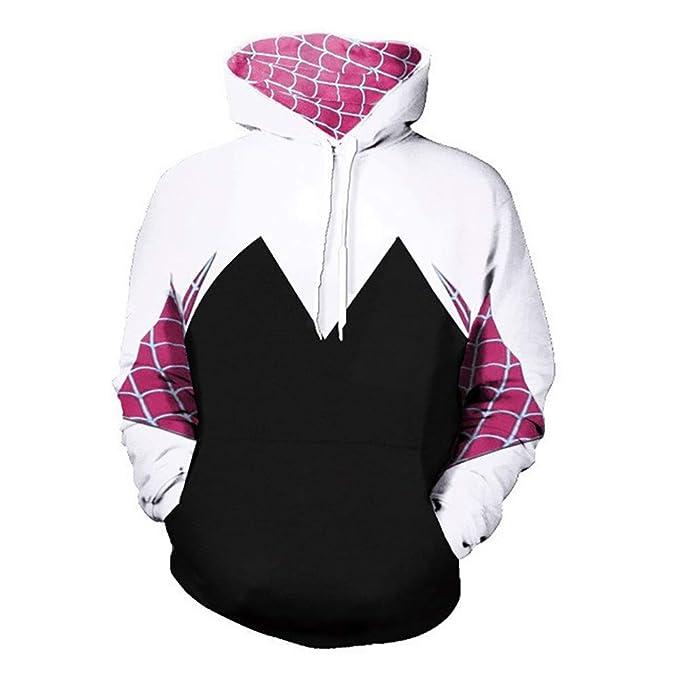 9e5ec672aa6 Gwen Stacy Spider-Man PS4 Iron Spider - Sudadera con Capucha para Disfraz  de Cosplay